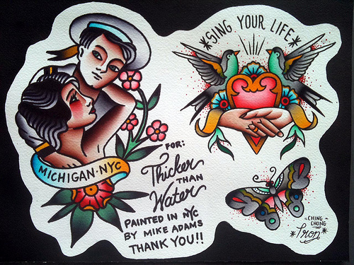 Tattoo Spotlight: The Old School Tattoo Art of Mike Adams