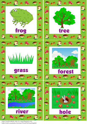 forest animals flashcards with words 3
