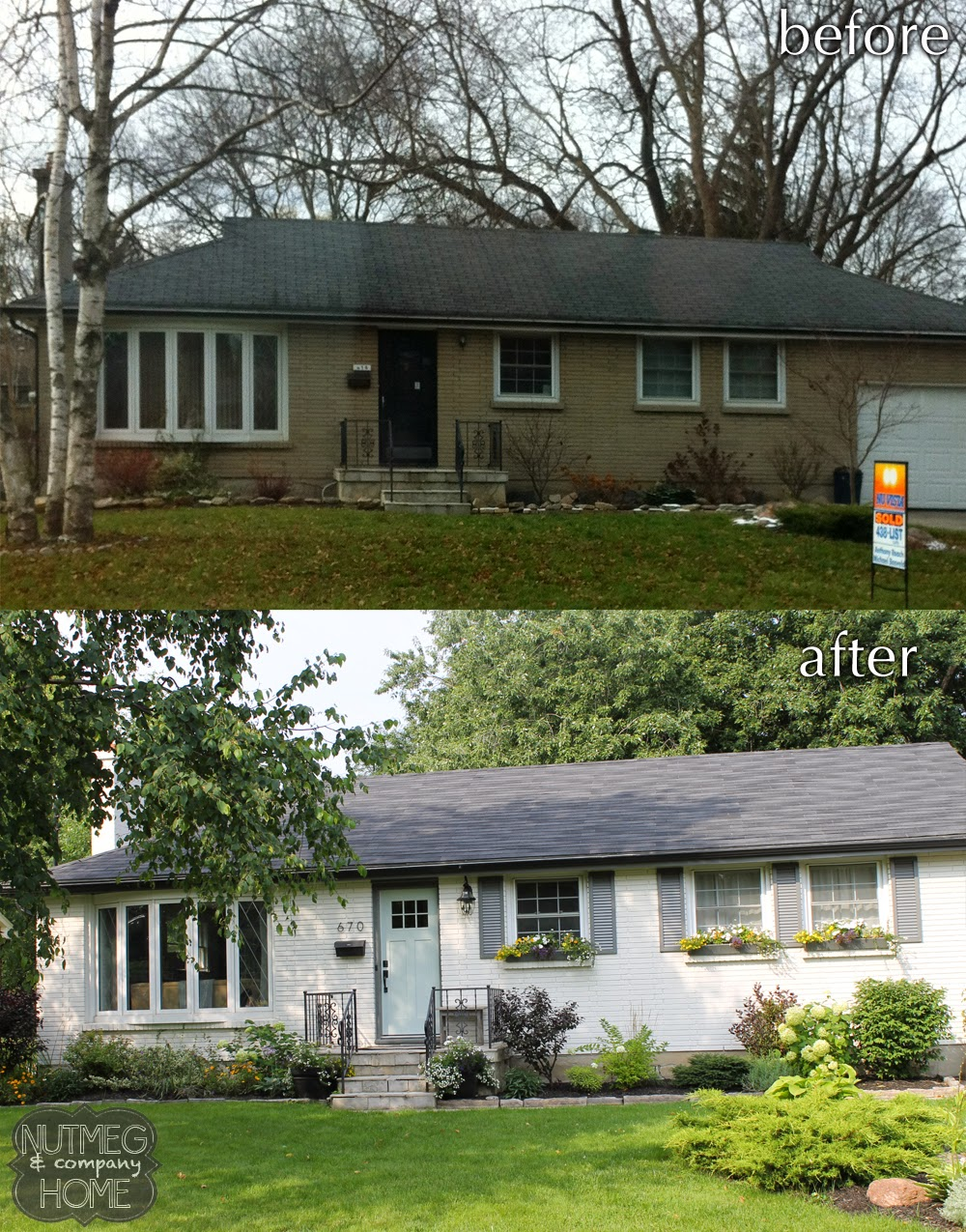 nutmeg company home before after curb appeal part 2