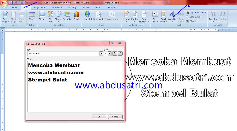 buat logo stempel dengan microsoft word 2007