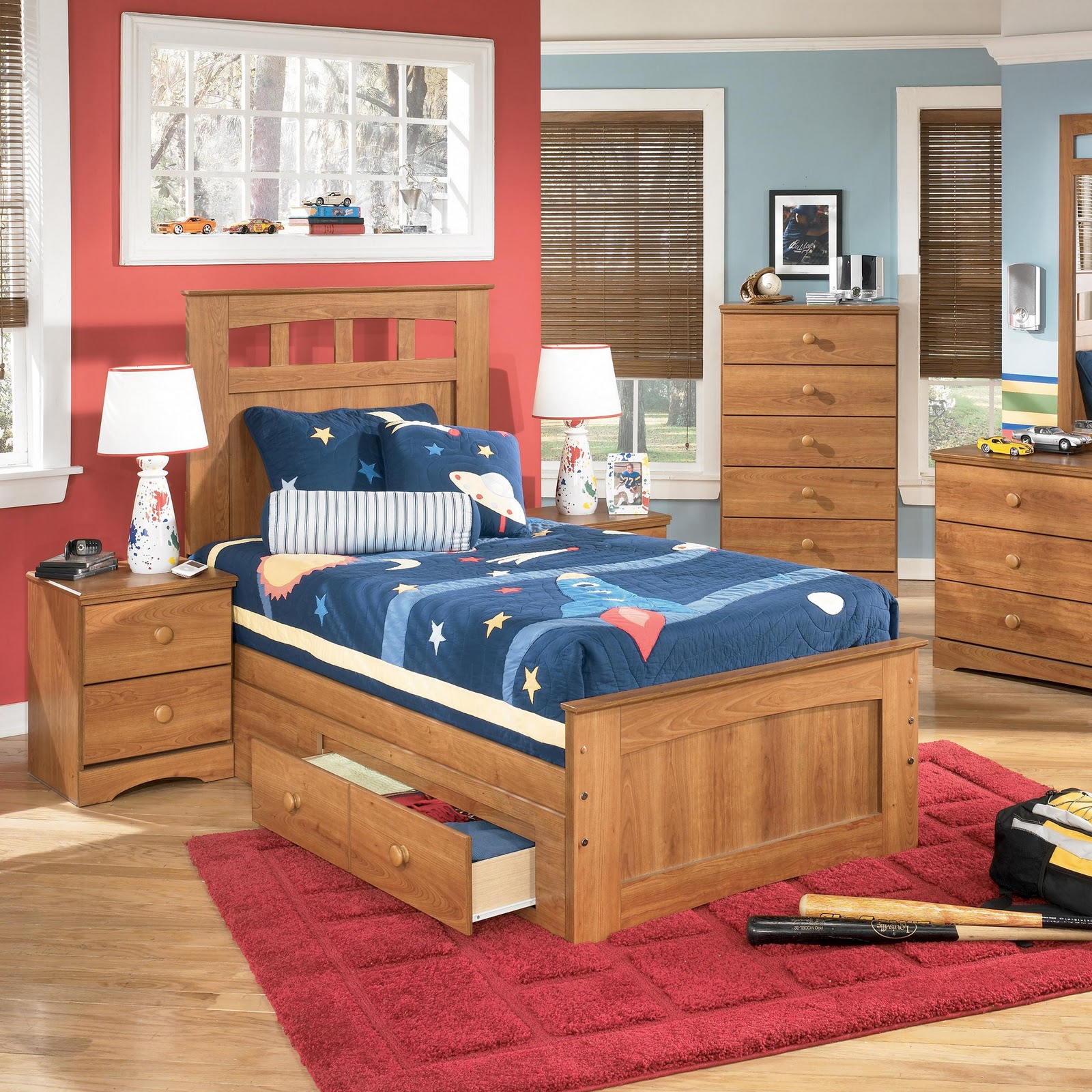 Knoxville Wholesale Furniture The Benjamin Twin Panel Bed With Storage
