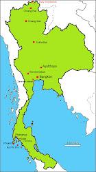 Navštívená místa v Thajsku