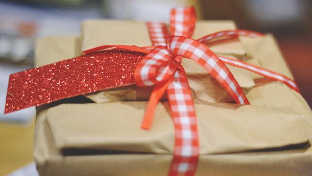 Christmas wrapping ribbon