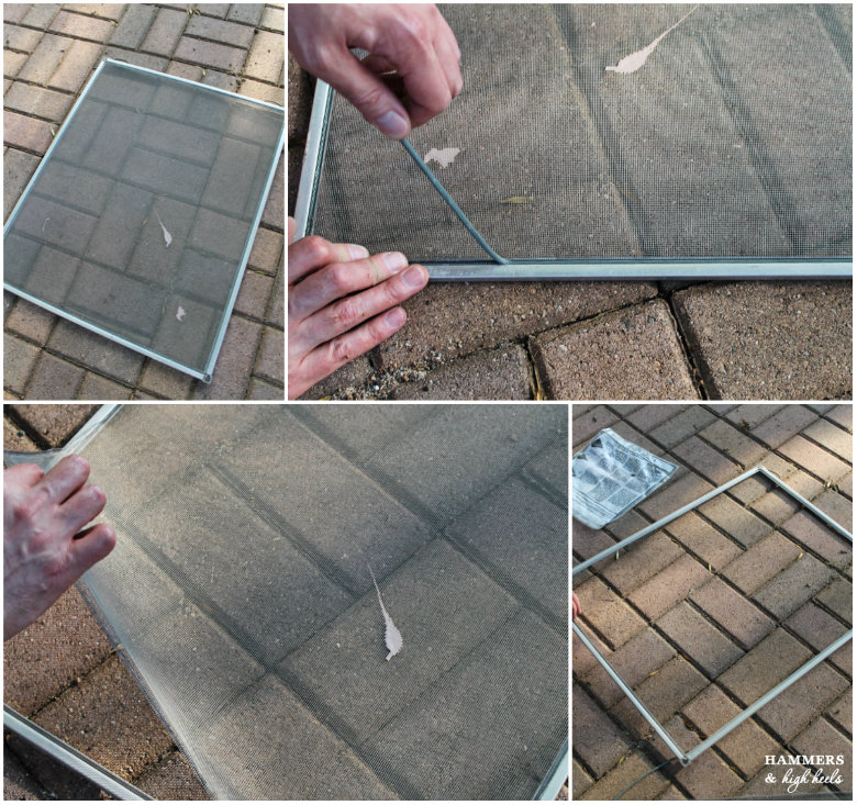 then lay the screen frame down with the retainer groove side faced up place the new replacement screen over the frame with at least 12 of the screen