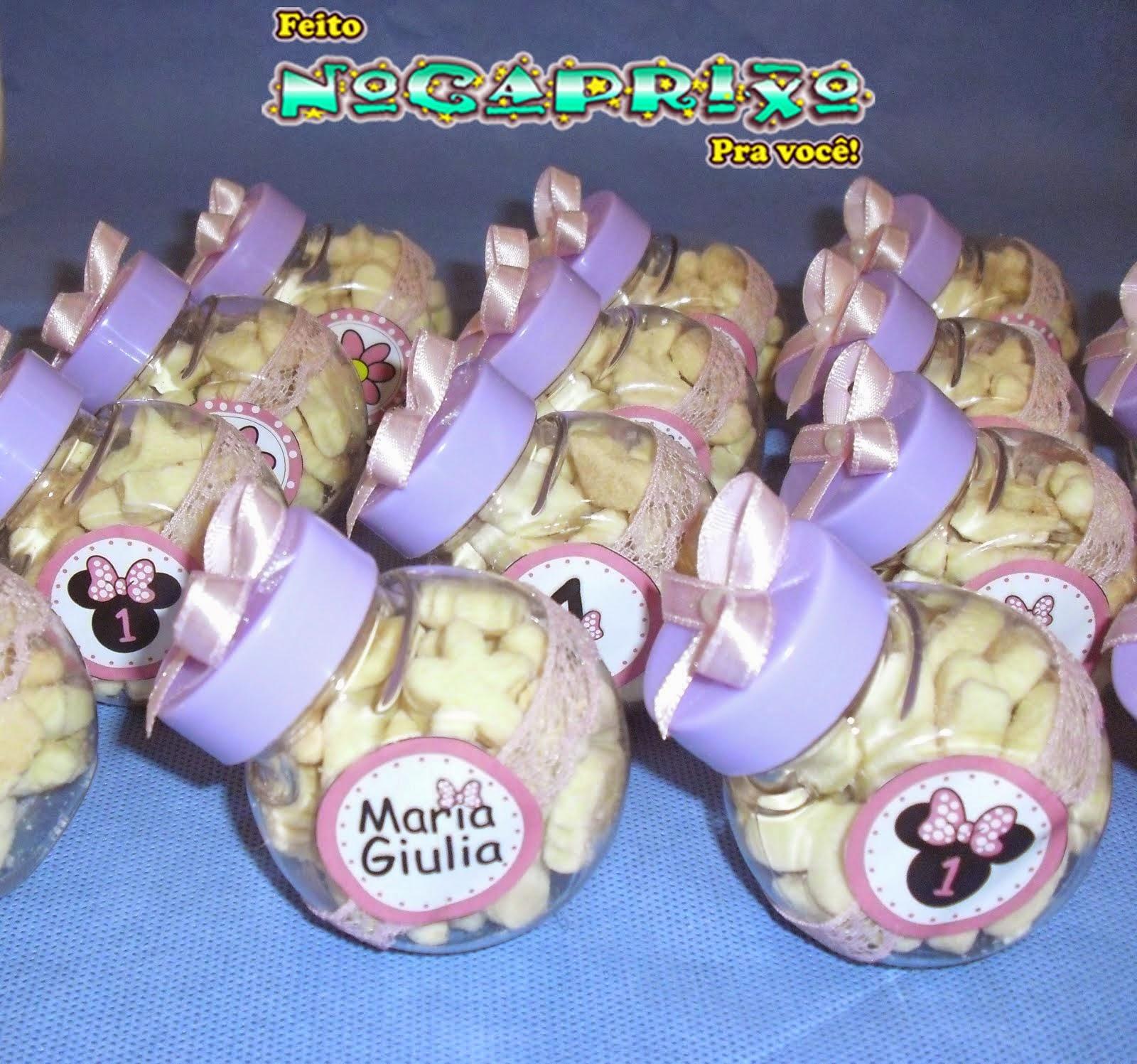 Mimos NoCaprixo-A festinha da pequena Maria Giulia ficou caprixado com mimos personalizados