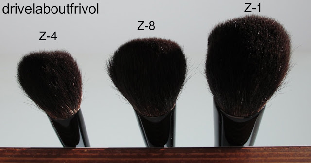 Chikuhodo brush Z-4 Z-8, Z-1 comparison
