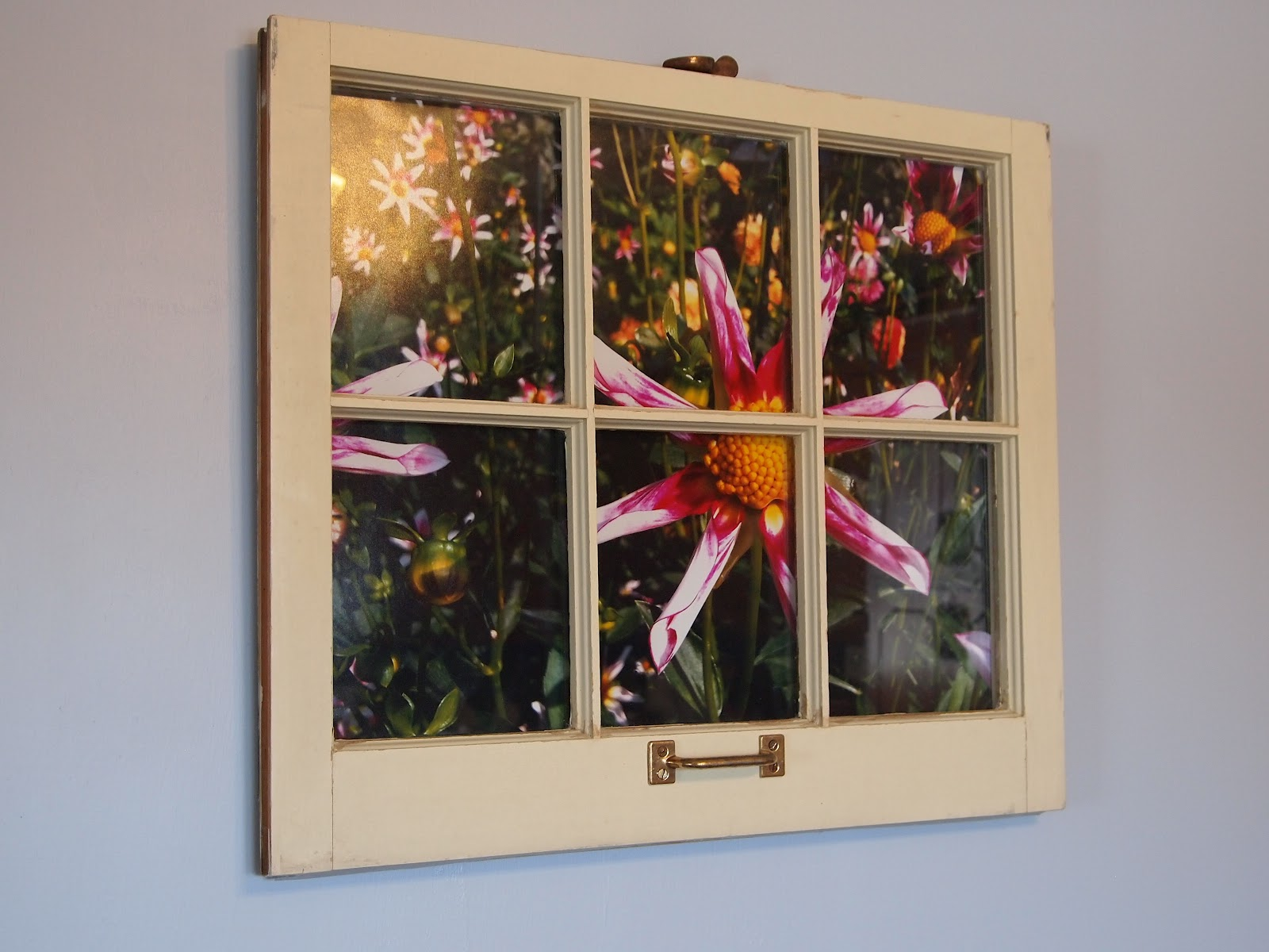 Craft room confidential recycled window picture frame for Recycled window frames