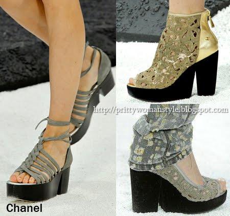 обувки на платформа Chanel