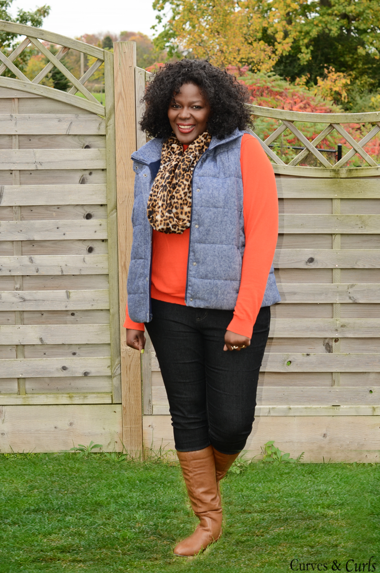 How to wear a puffer vest : #plussize, #oldnavy #joefresh plus size puffer vest