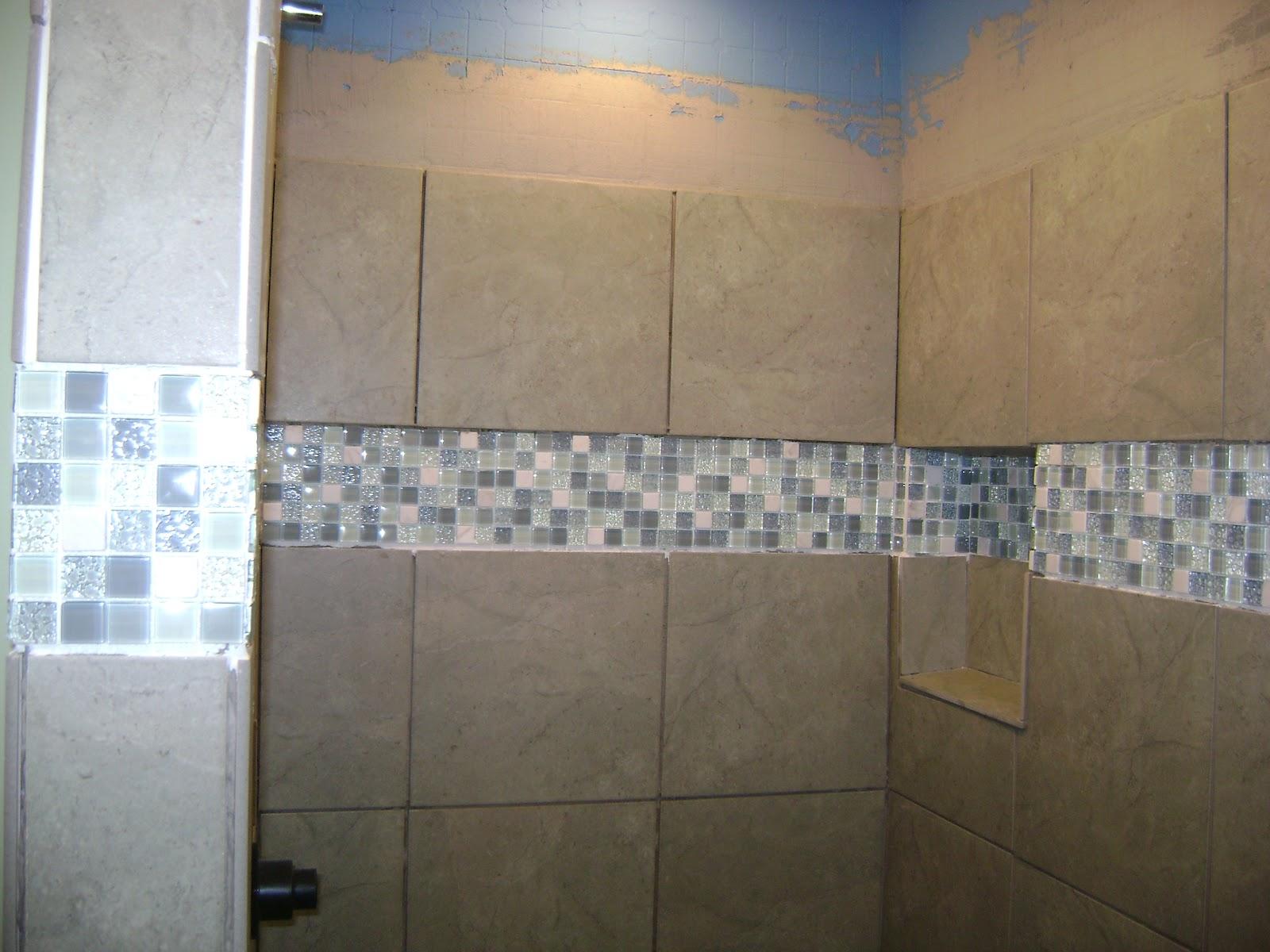 The last hideout bathroom remodel shower tile days 3 4 for Bathroom remodel in 3 days
