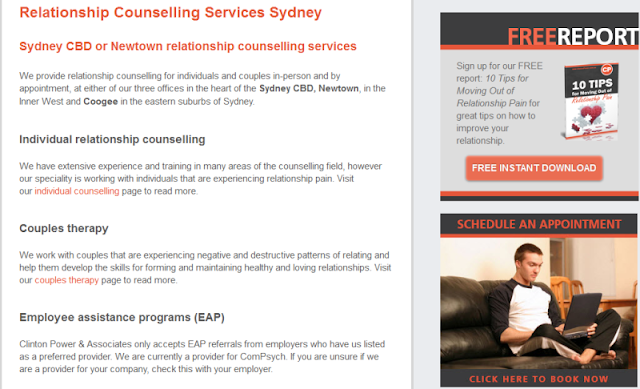 reputable relationship counsellors and therapists in Sydney