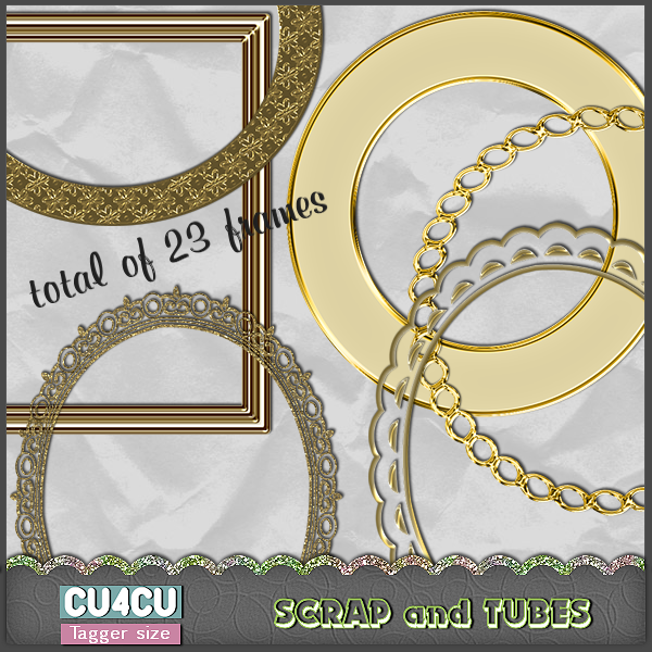 Set of Gold Frames (TS/CU4CU) .Set+of+Gold+Frames_Preview_Scrap+and+Tubes