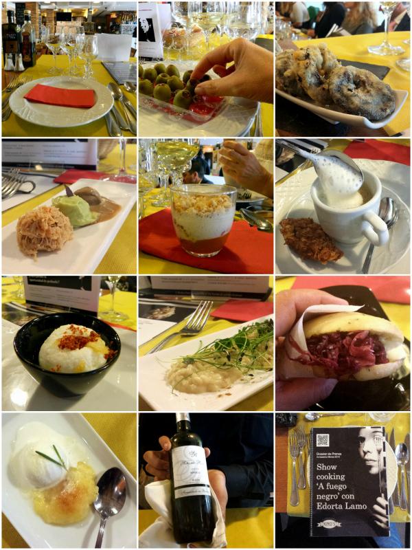 menú degustación, A Fuego Negro, Edorta Lamo, Arrosseria Nimo's, showcooking