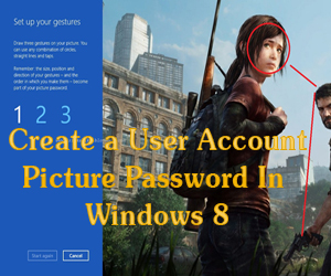 Create a User Account Picture Password In Windows 8