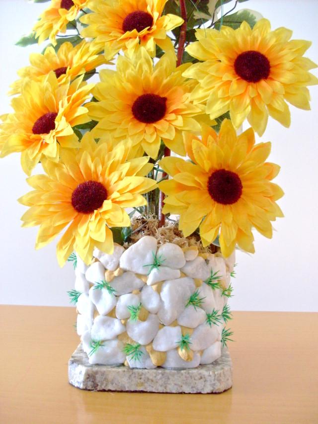 Artesanato Girassol ~ Bebeca Artesanato Arranjo de Flores Girassol