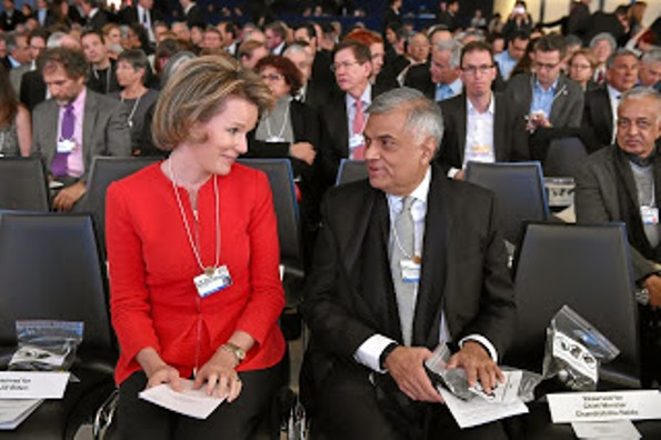 Queen Mathilde and King Philippe at the World Economic Forum 2016