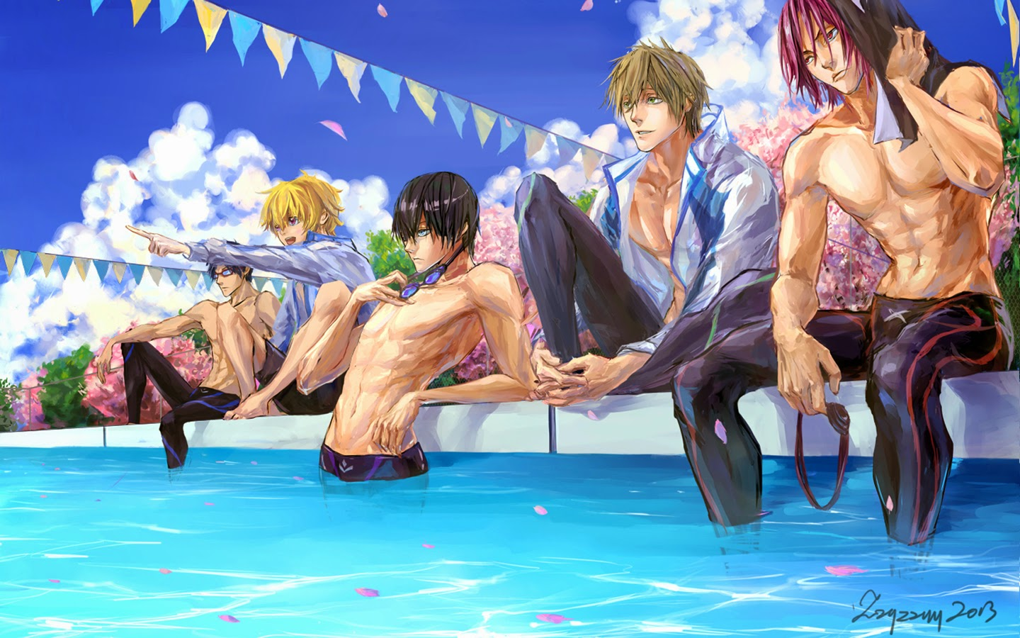 free! anime iwatobi swim club a435 hd wallpaper