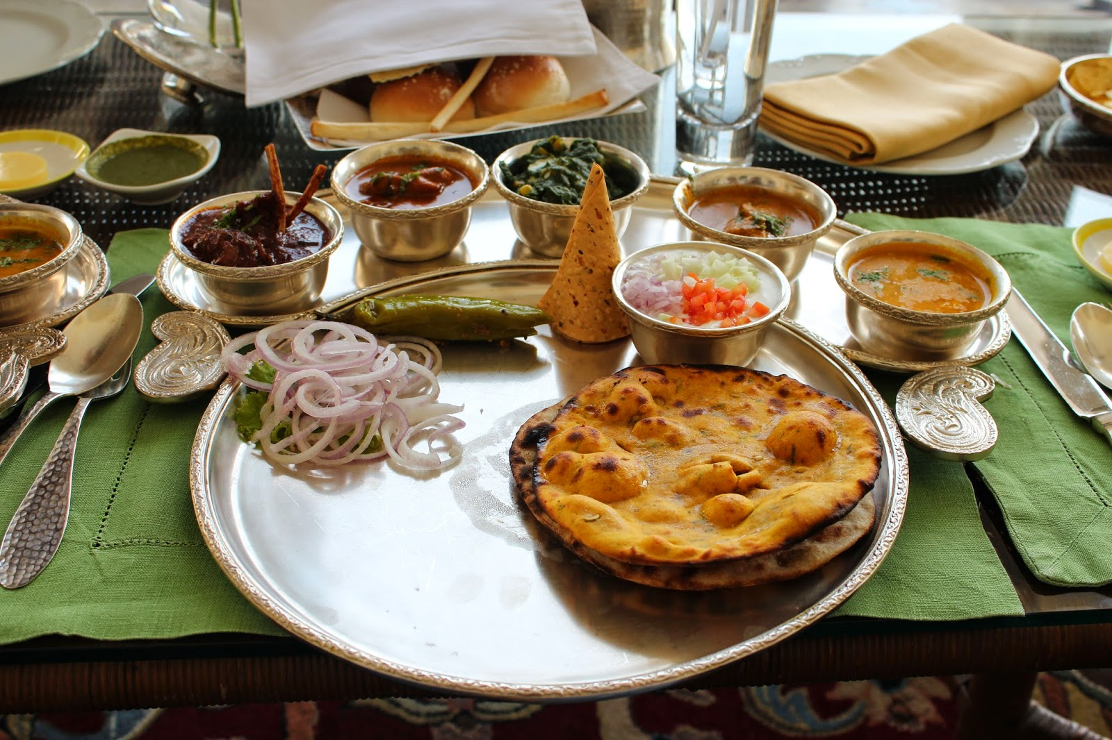 Royal Rajasthani Thali at Rambagh Palace Jaipur