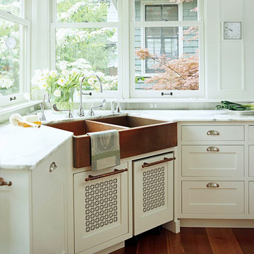 Corner kitchen sink ideas home appliance for House plans with kitchen sink window