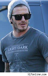 Footballer David Beckham Wallpaper in blue shirt