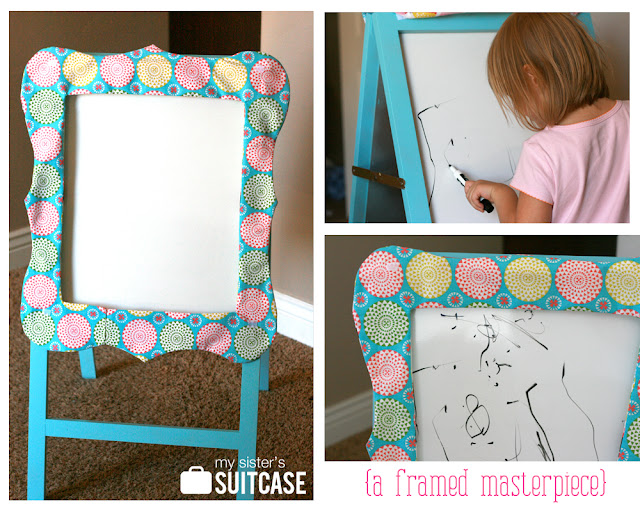fabric framed easel