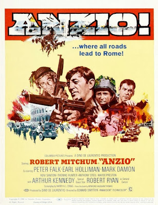Anzio (released in 1968) - War film starring Robert Mitchum, Robert Ryan and Peter Falk