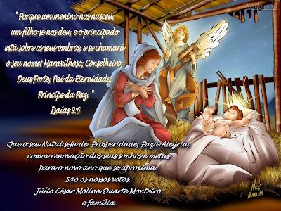 """""""Porque um menino nos nasceu, e um filho se nos deu, e o principado está sobre os seus ombros, e se chamará o seu nome: Maravilhoso, Conselheiro, Deus Forte, Pai da Eternidade, Príncipe da Paz."""" Isaías 9:6"""