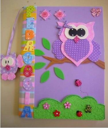 decorar libretas con fomi toalla, decoracion para libretas usando fomi toalla, decorar libretas con letras de fomi, con que le puedo poner el nombre a mis libretas