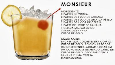 Drinks com Vodka com frutas
