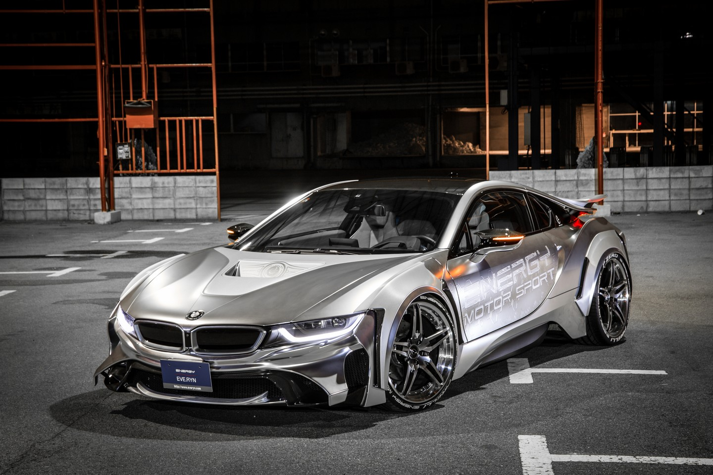 bmw i8 clad in other worldly bodykit by niche japanese tuner energy motor sport carscoops. Black Bedroom Furniture Sets. Home Design Ideas