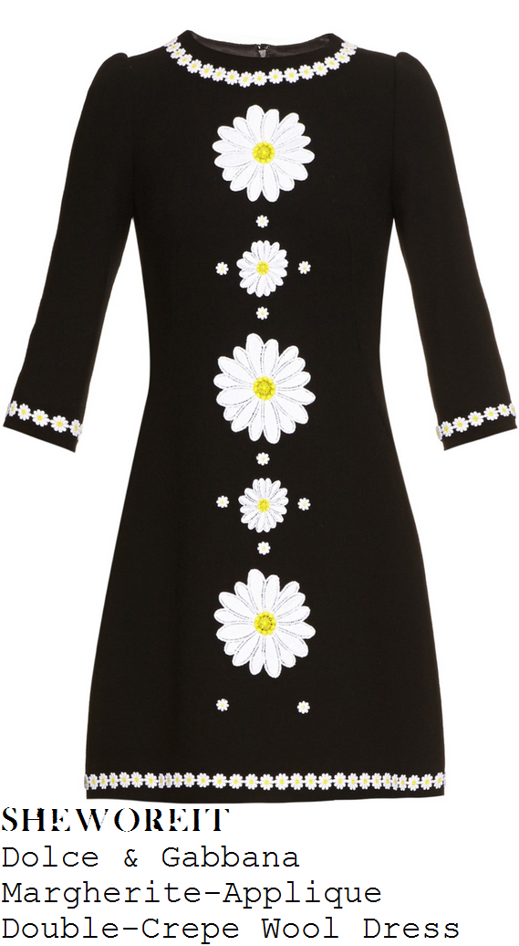 fearne-cotton-black-white-yellow-daisy-applique-half-sleeve-mini-dress-fearne-and-gok-off-the-rails