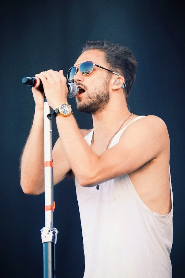 Andy Brown 'Lawson' TOMS Maverick pilot sunglasses - The Isle of Wight Festival 13 June 2014