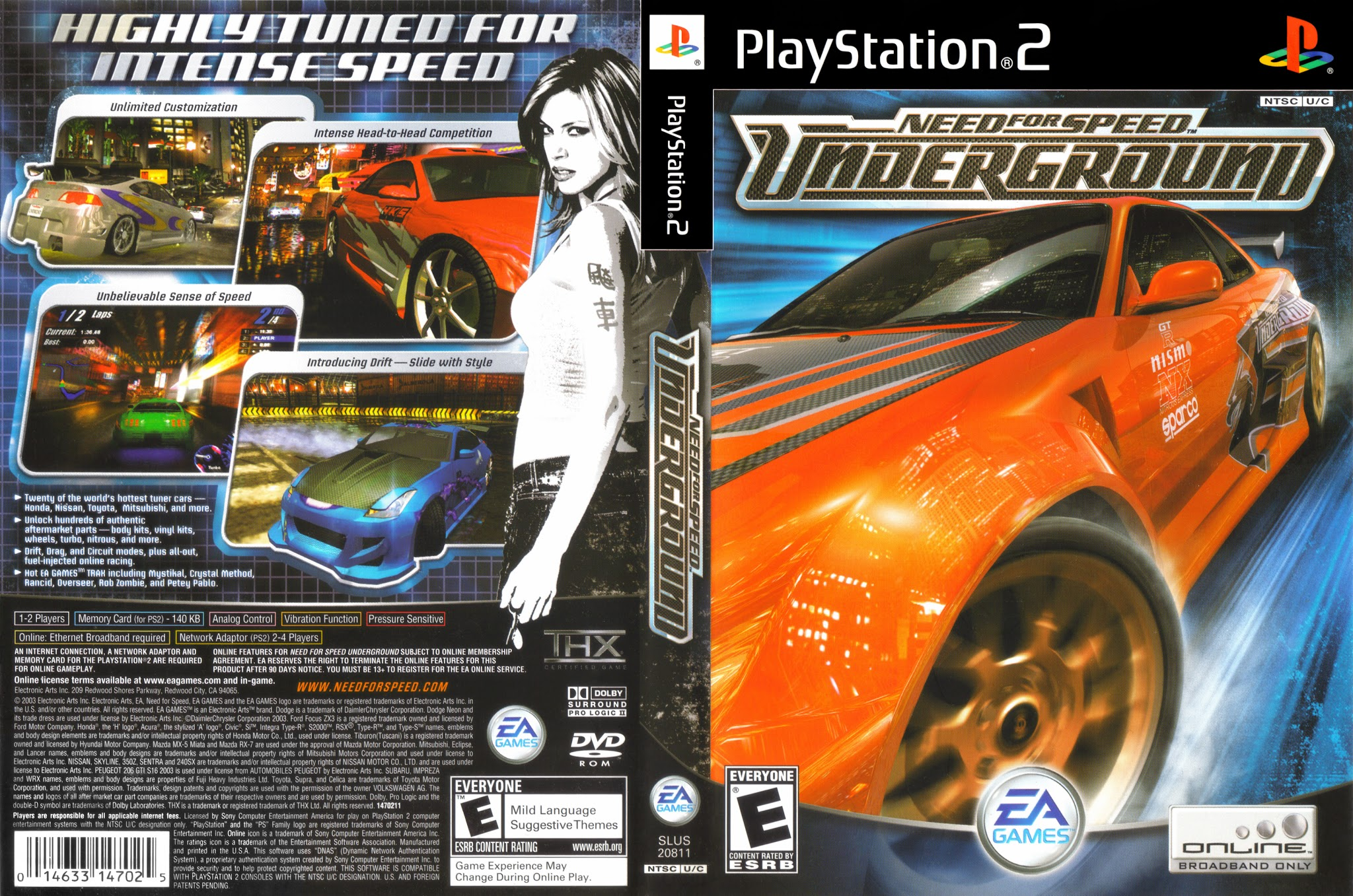 Need For Speed Underground - Playstation 2 - Ultra Capas Ps2 Need For Speed