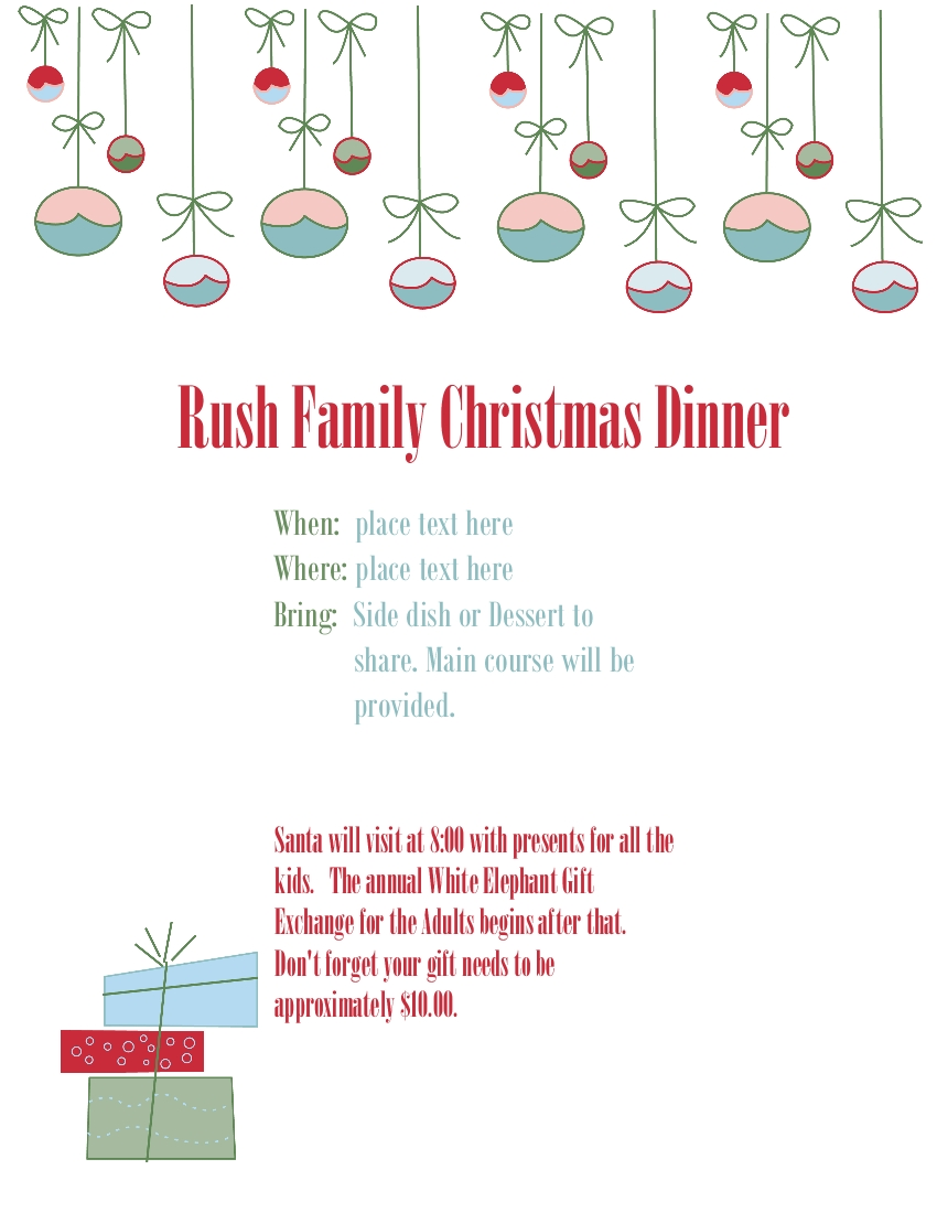 Beths digital cuts personalize your stationary a less formal christmas flyer altavistaventures Choice Image