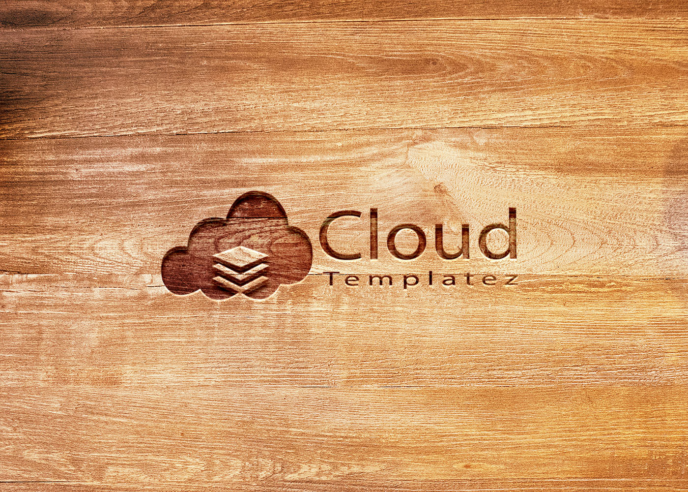 Carved Wood Logo Mockup Psd Free Cloud Templatez All