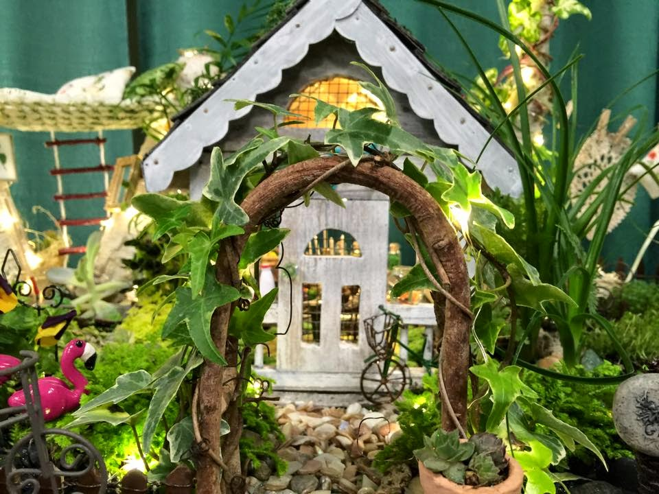 Dozens Of Mini Gardens On Display At The Boise Flower And Garden Show.