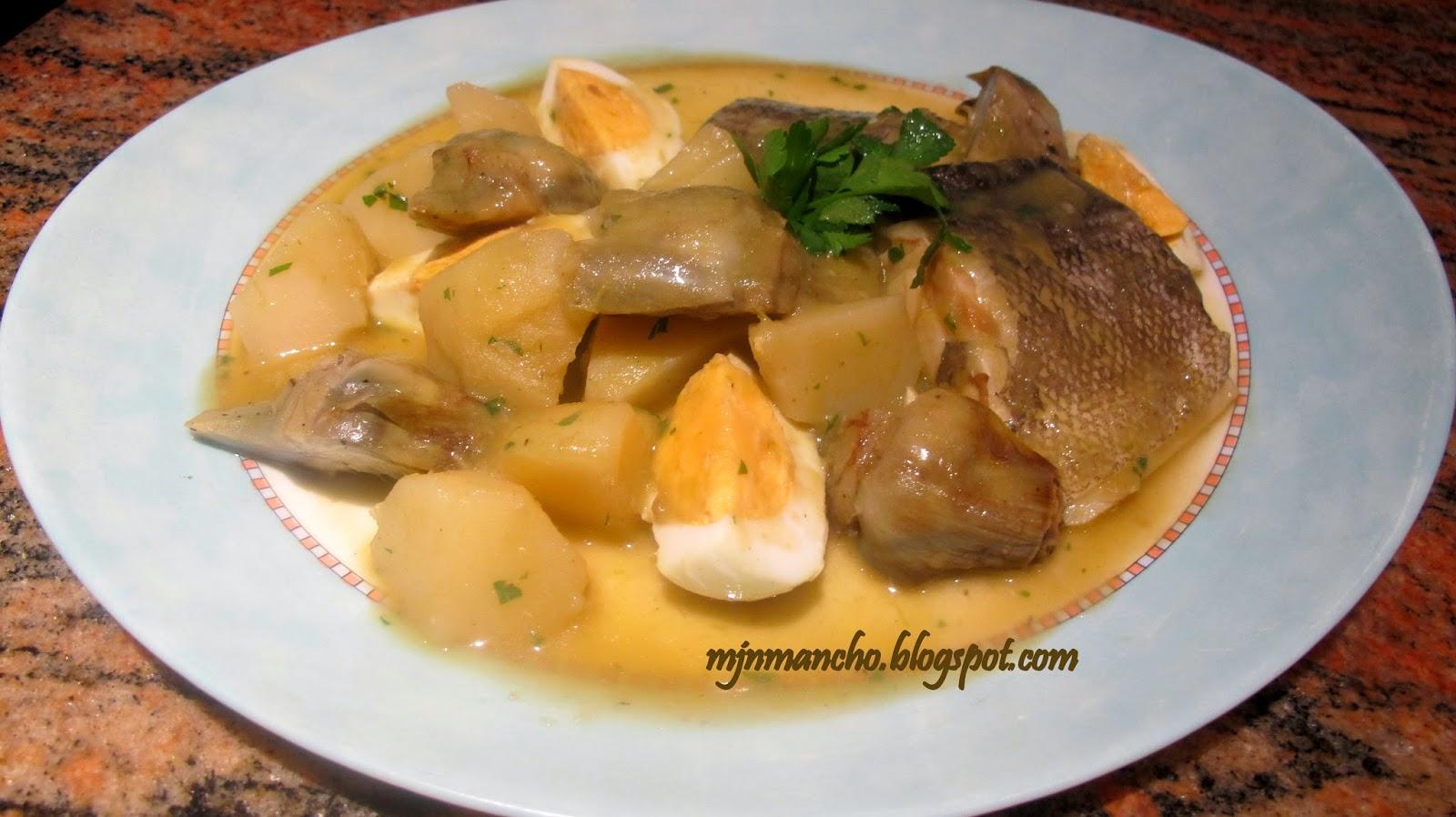 La casa de lalaina alcachofas - Bacalao guisado con patatas ...
