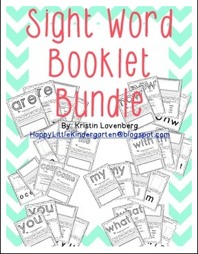 https://www.teacherspayteachers.com/Product/Kindergarten-Sight-Word-Booklet-Bundle-1073182