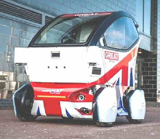 Driverless car vehicle odd shaped