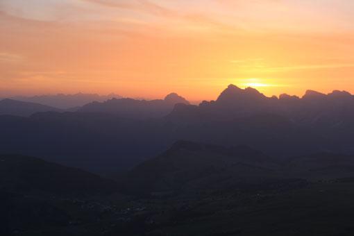 Sonnenaufgang Schlern Petz