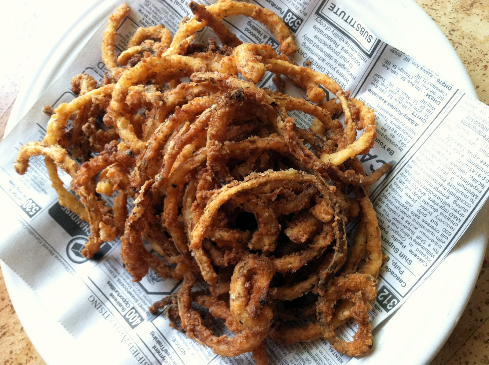 crispy onion rings 1 small onion cut into rings thickness