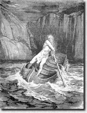 La Barca de Caronte (barquero de Hades)