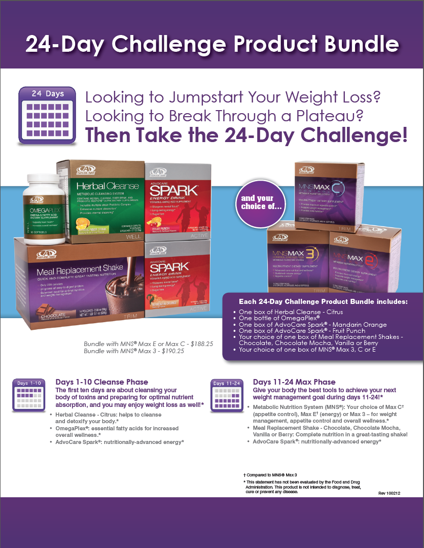 Advocare 24 Day Challenge Flyer Timiznceptzmusic