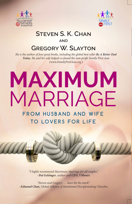 Check out my latest book Maximum Marriage