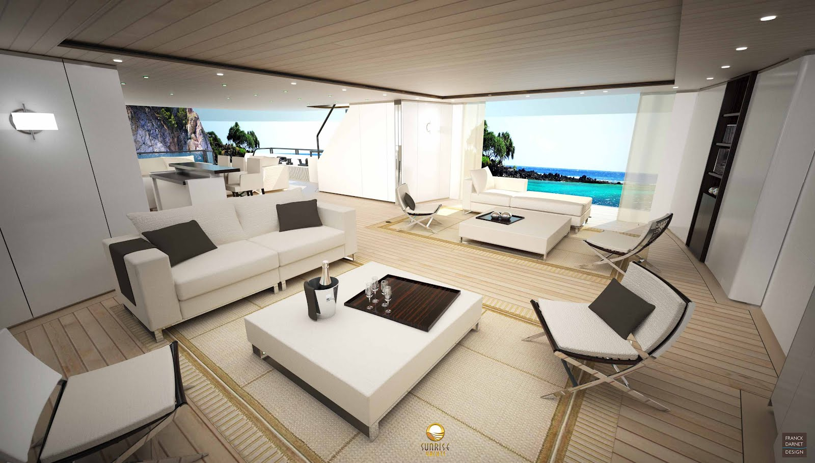 megayacht global sunrise yachts new 50m 39 bringing the outside in 39. Black Bedroom Furniture Sets. Home Design Ideas