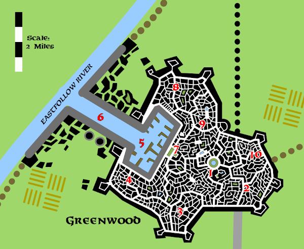 Mystara Foresthome Greenwood streetmap