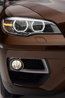 2013 new BMW X6 restyled headlamp front light official media picture