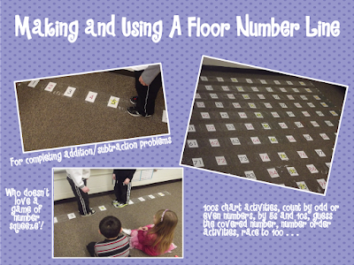 A differentiated kindergarten how to make a floor sized for Floor number line