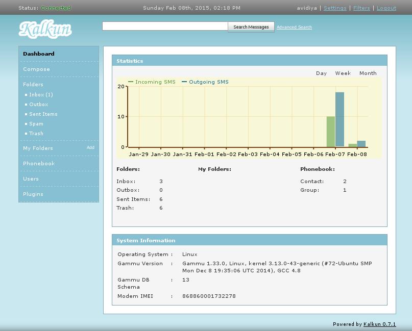 ... Install & Konfigurasi Kalkun untuk SMS Gateway pada Linux Ubuntu 14.04
