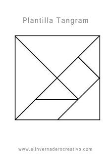 Dibujo de la plantilla del tangram